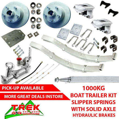 1000KG GALV KIT, SLIP SPRINGS, HYD AXLE - Trek Hardware