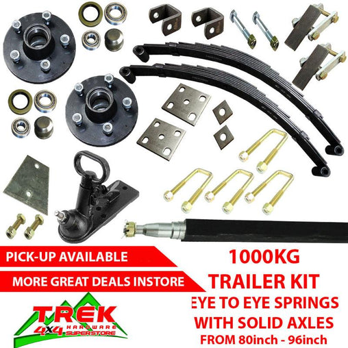 1000KG KIT, EYE SPRINGS SOLID AXLE - Trek Hardware