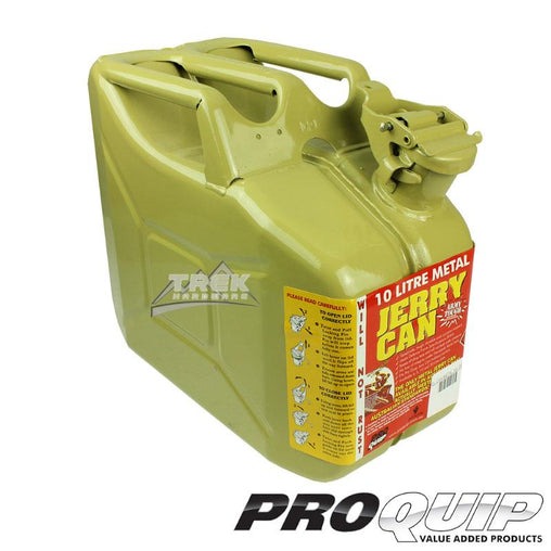 10L AFAC OLIVE YELLOW METAL JERRY CAN (DIESEL) - Trek Hardware