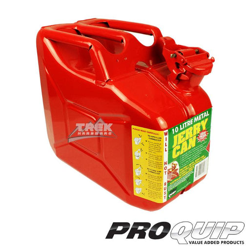 10L AFAC RED METAL JERRY CAN (UNLEADED) - Trek Hardware