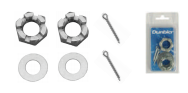 Axle Castle Nuts, Washers & Pins x 2 (Clam Shell Pack)