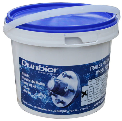 Dunbier Trailer Wheel Hub In A Tub