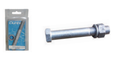Spring Shackle Bolt, Nut & Spring Washer GAL (clam shell)