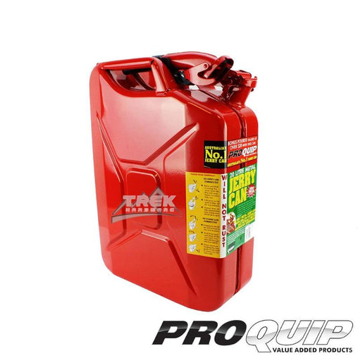 20L AFAC RED METAL JERRY CAN (UNLEADED) - Trek Hardware