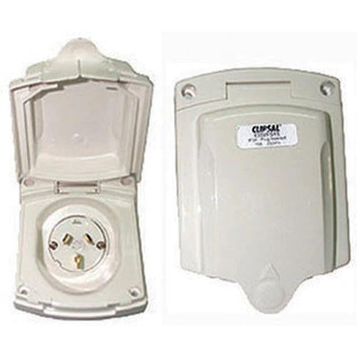 POWER INLET NEW STYLE WHITE