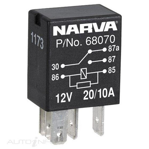 CHANGE-OVER 5 PIN RELAY WITH RESISTOR