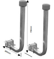 Boat Trailer Guide Pole Set - INCLUDING FITTINGS