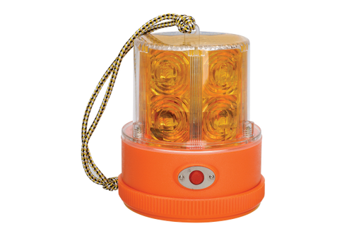 Sentry L.E.D Portable Battery Powered Strobe (Amber) with Magnetic Base
