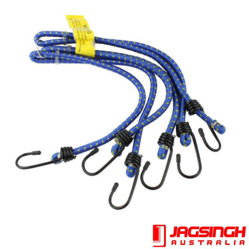 Bungee Cord 6 Arms 8mm, 4x60cm Poly Bag - Trek Hardware
