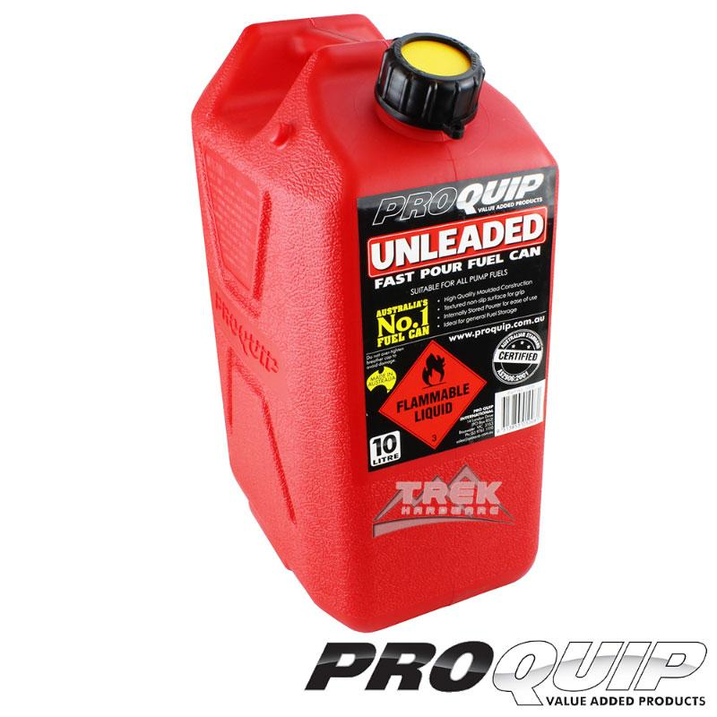 Fast Flow 10L Plastic Fuel Can Red (Unleaded)