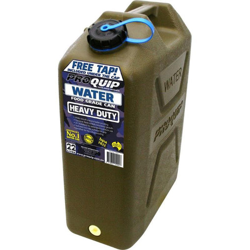 Heavy Duty Water Jerry Can 22L With Tap Tap Olive Drab 'Army Style'