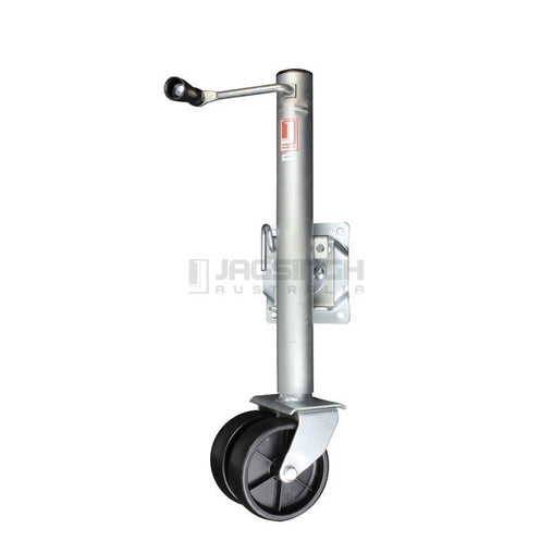 "Jockey Wheel 6"" Swing Up 1200lbs Double Wheel"