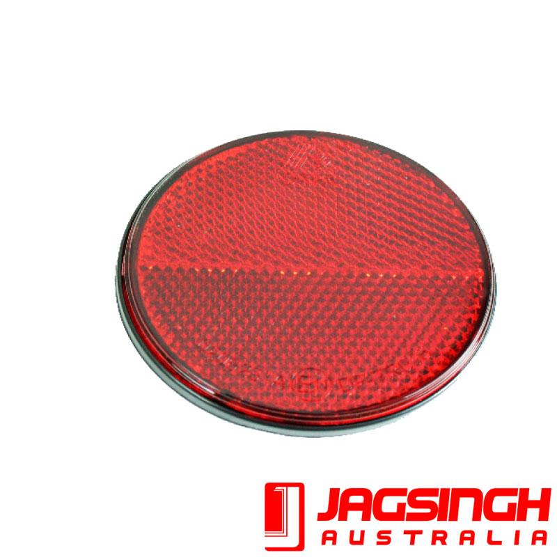 Reflector Red 72mm Dia Stick On