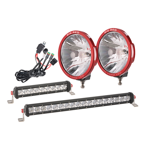 "9"" DRIVING LIGHT WITH FREE LIGHT BARS & WIRING HARNESS"