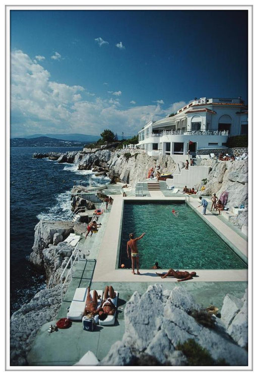 "FRAMED ""Eden-Roc Pool"" 30x40 Getty Images Premium Collection by Slim Aarons Photography W Gallery In Stock - Global Images USA"
