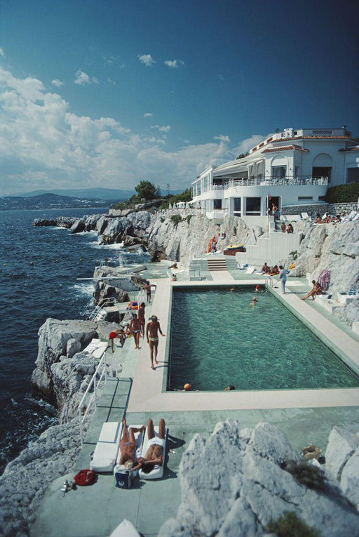 """Hotel Cap du Eden Roc"" 48x72 Perspex Getty Images Certified Collection by Slim Aarons Photography - Global Images USA"