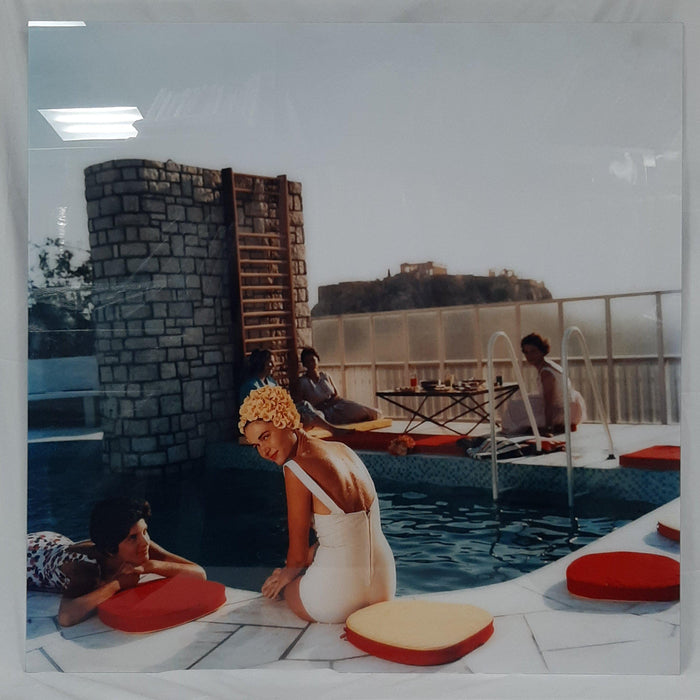 """Penthouse Pool"" 50x50 Perspex Acrylic Getty Images Collection by Slim Aarons Photography - Global Images USA"