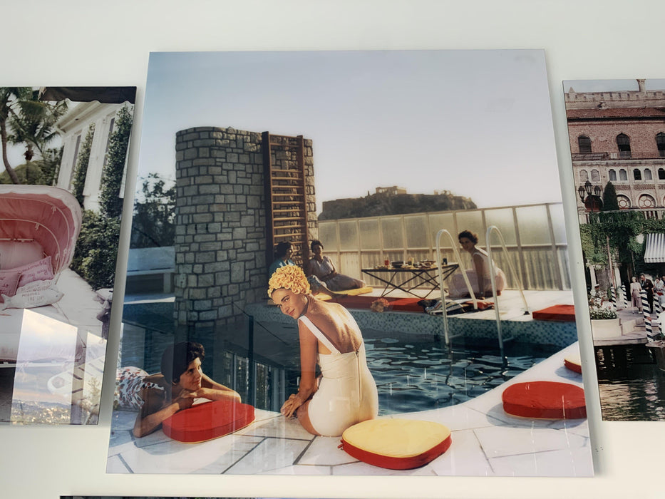 """Penthouse Pool"" 50x50 Perspex Acrylic Getty Images Collection by Slim Aarons Photography"
