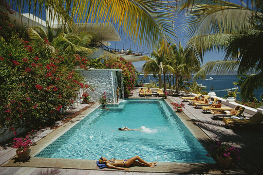 """Pool at Las Hadas"" Getty Images Beach Collection by Slim Aarons Photography - Global Images USA"