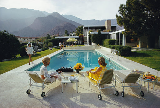 "UNFRAMED ""Poolside Gossip"" 40x60 & 48x72 Getty Images Beach Collection by Slim Aarons Photography W Gallery In Stock - Global Images USA"