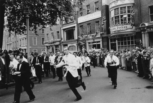 """Soho Waiters Race"" Getty Images Certified Collection by Slim Aarons Photography - Global Images USA"