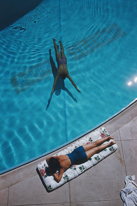 Swimmer And Sunbather by Slim Aarons - Getty Images Gallery - C-Type Fine Art Print - globalimages.art - 1