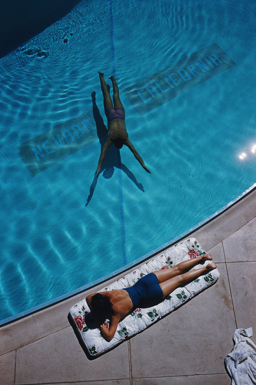 "UNFRAMED 30x40 ""Swimmer And Sunbather"" Getty Images  Slim Aarons Photography W Gallery In Stock - Global Images USA"