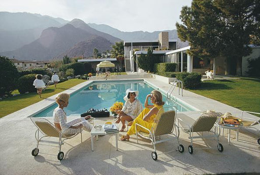 Poolside Gaze by Slim Aarons Photography