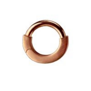 Solid 14K Rose Gold Nipple Ring | Brushed Finish - TummyToys
