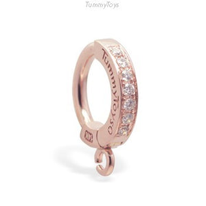 Exclusive Rose Gold Belly Champagne Diamond Belly Ring | Design your Own - TummyToys