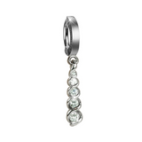 14K White Gold and Diamond Belly Ring - TummyToys
