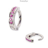 Exclusive 14K White Gold & Pink Sapphire Belly Ring - TummyToys