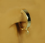 Classic 14K Yellow Gold Sleeper Belly Button Ring By TummyToys Add your own charm - TummyToys