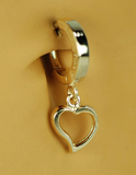 14K Yellow Gold Belly Button Ring with Dangling Heart Charm - TummyToys