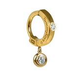 Custom 14K Yellow Gold Belly Ring with Genuine Diamonds - TummyToys