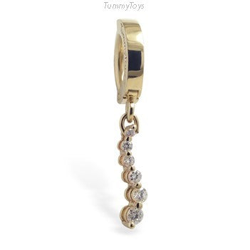 14K Yellow Gold & Diamond Belly Ring | .25ct - TummyToys