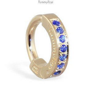 14K Gold With 7 Stunning Pave Set Sapphires Exclusively By Tummytoys - TummyToys