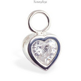Clear CZ & Silver Belly Ring Set | Discount Bundle Pack - TummyToys