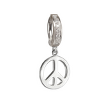 Peace Charm On Tummytoys CZ Belly Ring - TummyToys