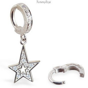 TummyToys Sparkling CZ Star Belly Ring - TummyToys