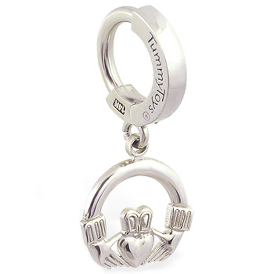 TummyToys Silver Claddagh Belly Ring - TummyToys