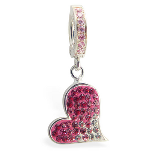 Hot Swarovski Crystal Heart With Light Pink Pave Clasp - TummyToys