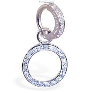 Changeable Circle Of Life Swinger Cz Charm On Pave Set Clasp - TummyToys