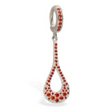 Dazzling Orange Cz Charm On Vibrant Orange Cz Clasp - TummyToys