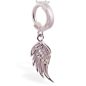 Femme Metale's Sterling Silver Wing Charm On Plain Silver Clasp By Tummytoys - TummyToys