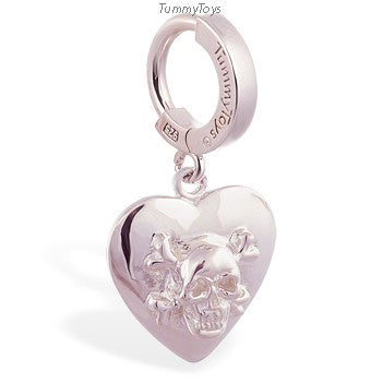 Femme Metale's Heart Skull Belly Ring - TummyToys