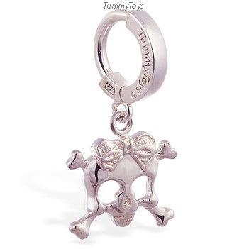 Femme Metale's Sterling Silver Skull Belly Ring - TummyToys