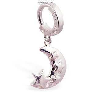 Femme Metale's Moon And Stars Navel Ring - TummyToys