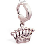 Femme Metale's Glorious Crown Belly Button Ring - TummyToys