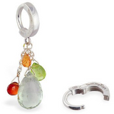 Mutiple Gem Cluster Tummytoys Belly Ring - TummyToys
